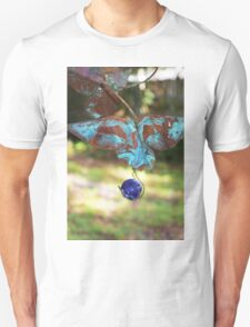 Patina Butterfly with Blue Marble Unisex T-Shirt