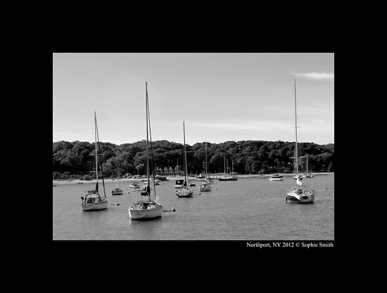Sailing Boats At Northport Harbor - Long Island, New York by © Sophie W. Smith
