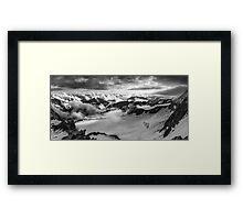 Breaking of clouds Framed Print