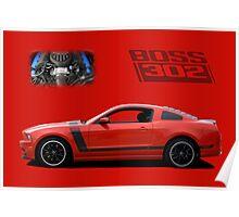 2013 Mustang Boss 302 Poster