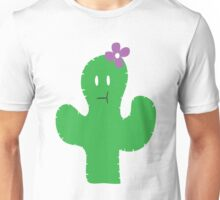 Cutesy Flower Cactus Unisex T-Shirt