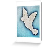 Dove on blue Greeting Card