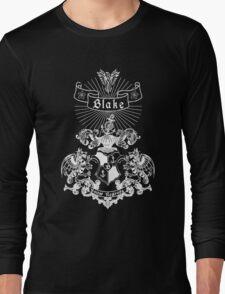BLAKE family crest, original design - white ink Long Sleeve T-Shirt