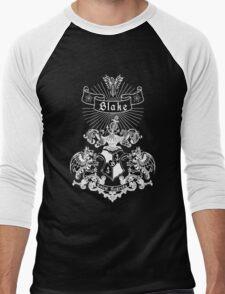 BLAKE family crest, original design - white ink Men's Baseball ¾ T-Shirt