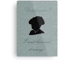 Violet Crawley Metal Print