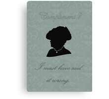 Violet Crawley Canvas Print