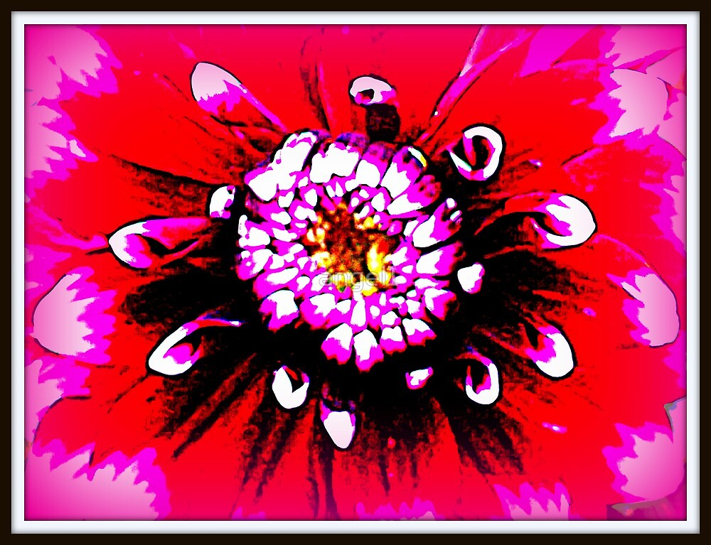 Abstract Flower in Pink by ©The Creative  Minds