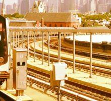 F Train, Brooklyn, NY Sticker