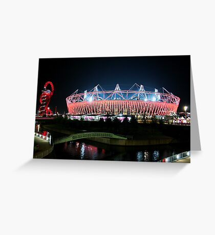 Olympic Stadium in Stratford Greeting Card