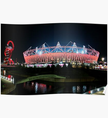 Olympic Stadium in Stratford Poster