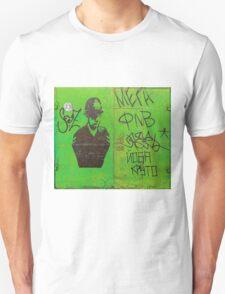 Vandalised Green Garage Door with Mr Plod Unisex T-Shirt