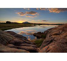 Sunset On The Rocks Photographic Print