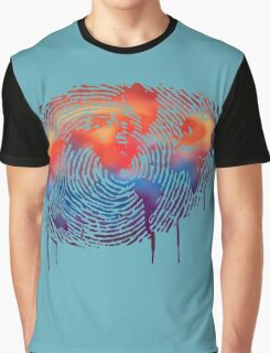WORLD MAP water colour illustration  Graphic T-Shirt