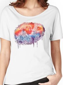 WORLD MAP water colour illustration  Women's Relaxed Fit T-Shirt