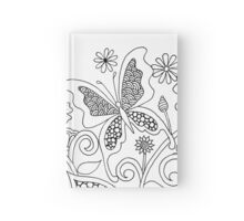 Butterflies and Flowers (I)  Hardcover Journal
