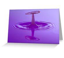 Purple Spray Greeting Card