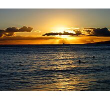 … at day's end, we swim Photographic Print