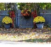 Autumn Fence by DreamCatcher/ Kyrah Barbette L Hale