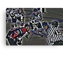 The puck is mine. Canvas Print