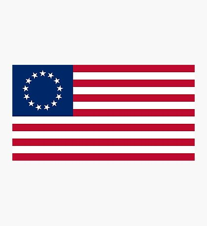 Betsy Ross 13 Stars in a Circle American Flag Photographic Print