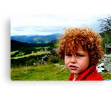 Child portrait, Cader Idris  Canvas Print