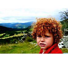 Child portrait, Cader Idris  Photographic Print