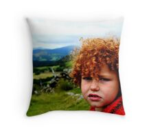 Child portrait, Cader Idris  Throw Pillow