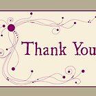 Thank You - Swirls 'n Dots by Lynne Goodman