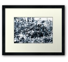 Wagon wheel - Cold pit. Framed Print