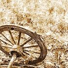 Wagon Wheel - sepia by timageco