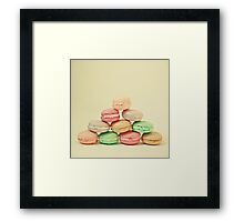 French Macarons Framed Print