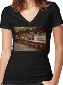 Apothecary - Cocke drugs apothecary 1895 Women's Fitted V-Neck T-Shirt