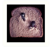 The Walking Bread Art Print