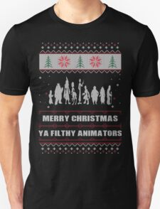 Merry Christmas Ya Filthy Animators Ugly Christmas Costume. T-Shirt