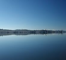 blue lakescape  by Bec89