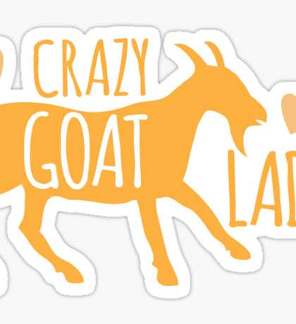 Crazy GOAT lady Sticker