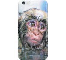 Japan monkey iPhone Case/Skin