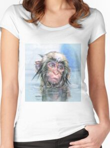 Japan monkey Women's Fitted Scoop T-Shirt
