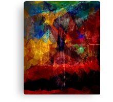 Abstract painting City Lights Canvas Print