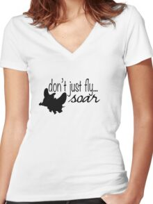 Dumbo - Don't Just Fly... Soar Women's Fitted V-Neck T-Shirt