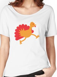 Thanksgiving Turkey on the RUN! Women's Relaxed Fit T-Shirt