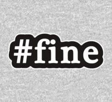 Fine - Hashtag - Black & White One Piece - Long Sleeve