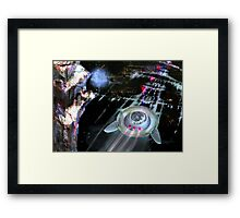 The Reckoning, SI FI, by Alma Lee Framed Print