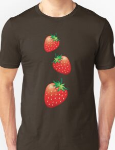3 Strawberries fruit down T-Shirt