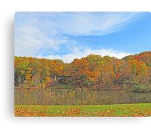 Autumn At Glacier Lake Canvas Print