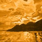 Island Sunset of Fire   by Morgan Ralston