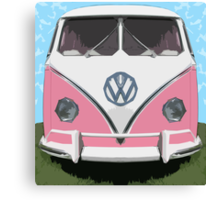 VW Kombi Van, The LOVE BUGger Canvas Print