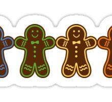 Rainbow Gingerbreads  Sticker