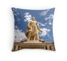 Landmark Statue Throw Pillow