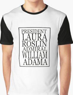 Roslin and Adama Graphic T-Shirt